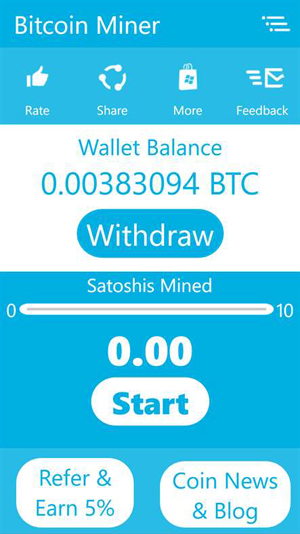 bitcoin mining software mobile phone