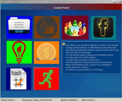 bitcoin mining software easy miner control panel